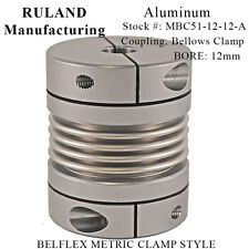 Ruland Manufacturing MBC51-12-12-A Aluminum Bellows Coupling Clamp Bore 12mm NEW