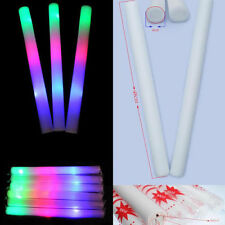 6 PC Lot Light-Up Foam Sticks LED Rally Rave Cheer Tube Soft Glow Baton