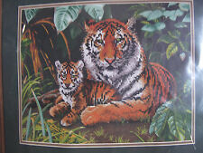 Tiger's Love stamped cross stitch kit by Dimensions