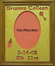 Personalized 8x10 New Baby Photo Mat & Frame - Hand Cut