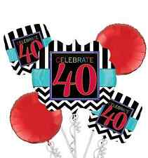 40th Birthday Party Balloon Bouquet ~ Celebrate 40th Party Decorations Supplies