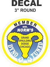 1 Round Yellow Mr Norms Dyno Tuned Vinyl Decal