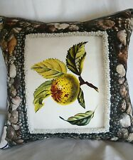 """Christian Lacroix 18"""" PATIO Designer Fabric Cushion Pillow Cover. Piped edges"""