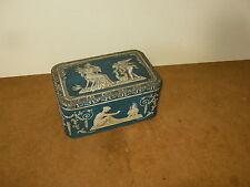 Belle ancienne boite en tôle - décoration vintage - motifs anges et antiquité