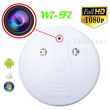 HD 1080p WiFi Spy IP Camera Nanny Cam Hidden DVR Smoke Detector Motion Detection