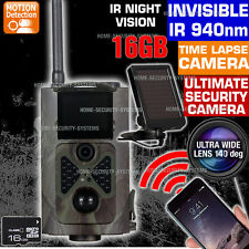 Trail Camera 16GB Farm Solar Wireless 3G GSM Security Alarm Home N Spy Hidden
