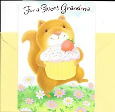 Happy Mother's Day Grandma Squirrel With Cupcake Hallmark Greeting Card