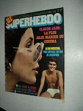 SUPERHEBDO 20 (20/8/70)CLAUDE JADE ALAIN MOSCONI POLNAREFF RENAUD VERLEY MCQUEEN