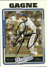 2004 Topps ERIC GAGNE Signed Card DODGERS auto autograph QUEBEC CANADA
