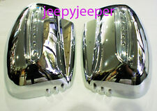 @IMMO CHROME MIRROR COVER NEW STYLE LED MITSUBISHI L200 2005 TRITON PAJERO 2009