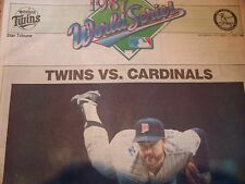 1987 minnesota twins world series star tribune newspaper vintage 87 baseball mlb