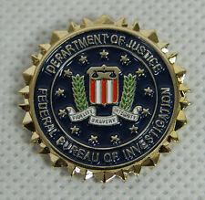 FEDERAL BUREAU OF INVESTIGATION DEPTMENT OF JUSTICE HAT OR LAPEL PIN -32558