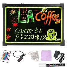 30 cm x 40 cm   LED Writing Board Sign Free 8 pack of Markers & Free Shipping