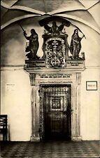 Levoča Leutschau Slowakei s/w AK ~1950/60 Portál nad vchodrom Portal ungelaufen
