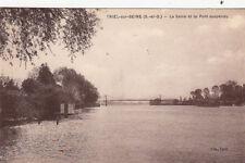 TRIEL-SUR-SEINE la seine et le pont suspendu écrite