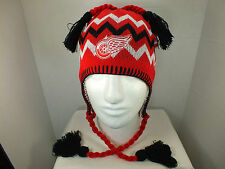 Detroit Red Wing NHL Vintage Knit Beanie winter Hat with tassels New by Zephyr