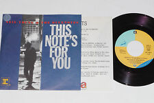 """NEIL YOUNG & THE BLUENOTES -This Note's...- 7"""" 45 mit Product Facts Promo-Flyer"""
