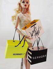 """More faux HAUTE COUTURE shopping bag for your FR, Barbie, other 12"""" fashionistas"""