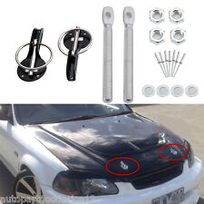 Alloy Black Universal Racing Sport Car Mount Bonnet Hood Latch Pin Locking Kit