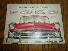 1955 Ford Sales Brochure - Victoria Sunliner Skyliner Club Coupe Country Squire
