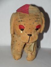 VINTAGE BONZO FARNELL VELVETEEN STRAW STUFFED toy DOG pug spotted w/ hat dinkie