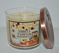 BATH & BODY WORKS VANILLA PUMPKIN MARSHMALLOW SCENTED CANDLE 3 WICK 14.5OZ LARGE