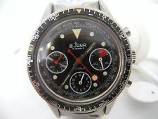 Vintage LeJour Valjoux 7736 Chronograph Wristwatch Lollipop triple-register