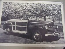 1946 FORD SPORTSMEN CONVERTIBLE  12 X 18 LARGE PICTURE / PHOTO
