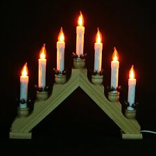 Christmas candle bridge lights ebay for Arch candle christmas decoration