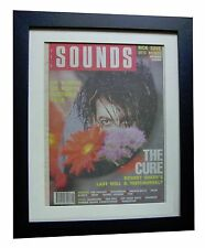 THE CURE+POSTER+AD+FRAMED+OFFICIAL+SOUNDS+ORIGINAL 1989+VINTAGE+FAST GLOBAL SHIP