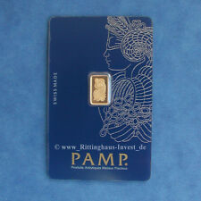 Goldbarren 1g 1 Gramm Pamp Suisse Fortuna Blister Gold 99,99 gold bar 1 g
