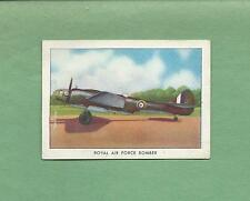 WINGS CIGARETTES Tobacco Trading Card--SERIES C #33--RAF BOMBER
