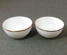 2 Suisse Langenthal First Class Olympic Greek Airlines Bouillon Gold Trim Bowl