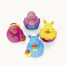 24 Easter Rubber Ducks Ducky Duckies PARTY FAVOR Basket Filler Egg Hunt