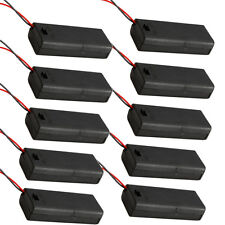 10 Pcs New 2 AAA 3A Battery 3V Holder Box Case with ON/OFF Switch Black