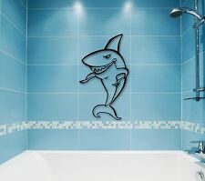 Wall Stickers Vinyl Decal Eats Shark Predator Funny Bathroom Decor (ig788)
