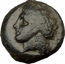 ABYDOS in TROAS 350BC Apollo Eagle Crescent Authentic Ancient Greek Coin i38068