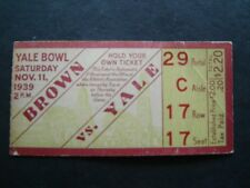Brown vs Yale College Football Ticket  Stub Yale Bowl Nov 11 1939