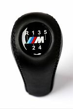 BMW M TECH 5 SPEED GEAR SHIFT KNOB E46 E60 E90 E91 E92 E93 M3 M5 M6 LEATHER NEW