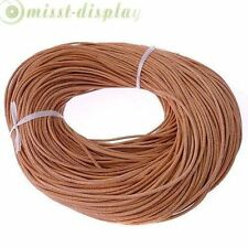5M-100M Genuine Leather Thong Cord 1mm 1.5mm 2mm 3mm Black Brown
