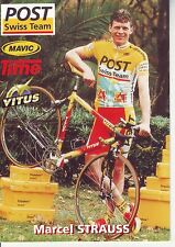 CYCLISME carte  cycliste MARCEL STRAUSS équipe POST SWISS TEAM