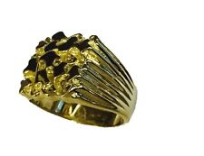 14kt gold Mens nugget design fashion ring 10 grams