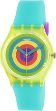 Swatch Women's Originals GJ135 Green Silicone Swiss Quartz Watch