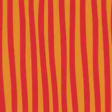 Bloom by Masha D'yans Orange Red Wonky stripe By The yard Clothworks