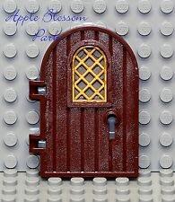 NEW Lego Minifig Brown CASTLE DOOR - Kingdoms Dungeon Door w/Gold Lattice Window