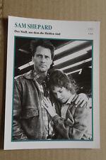 (S30) STARFILMKARTE - Sam Shepard - Der Stoff, aus dem die Helden sind