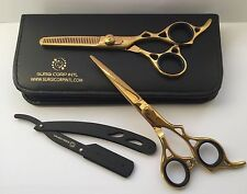 "Professional Hairdressing Scissors Barber Salon Shears SET 6"" With Free RAZOR"