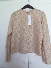 BNWT Ivory,beige and metallic gold floral cardigan by TODAYS WOMAN size 12
