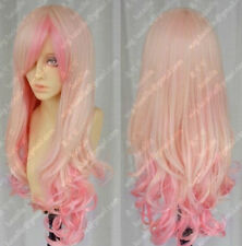 A7  Cos light blonde/ pink mix Can Heatin long curly cosplay full wig