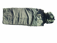 Genuine Surplus French Sleeping Bag Used Olive Green Repaired Waterproof Base